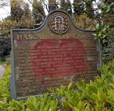Hascall's Div. Camped Marker image. Click for full size.