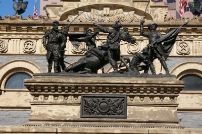 Soldiers' and Sailors' Monument detail image. Click for full size.