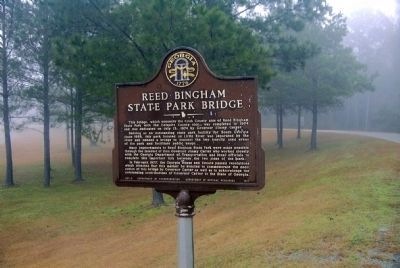 Reed Bingham State Park Bridge Marker image. Click for full size.