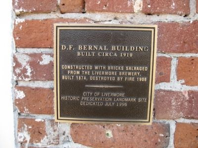 D. F. Bernal Building Marker image. Click for full size.