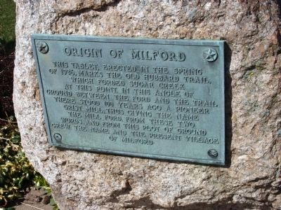 Origin of Milford (Illinois) Marker image. Click for full size.