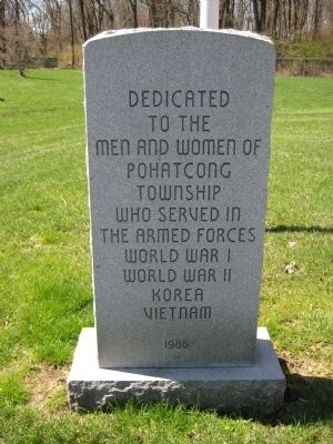 Pohatcong Township Veterans Monument image. Click for full size.