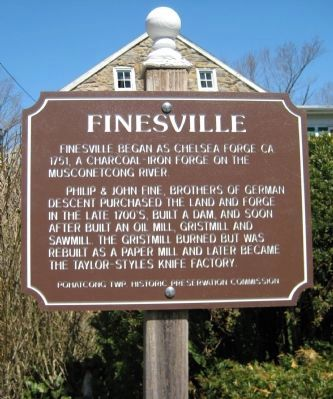 Finesville Marker image. Click for full size.