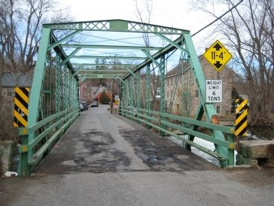 Bridge across the Musconetcong River at Finesville image. Click for full size.