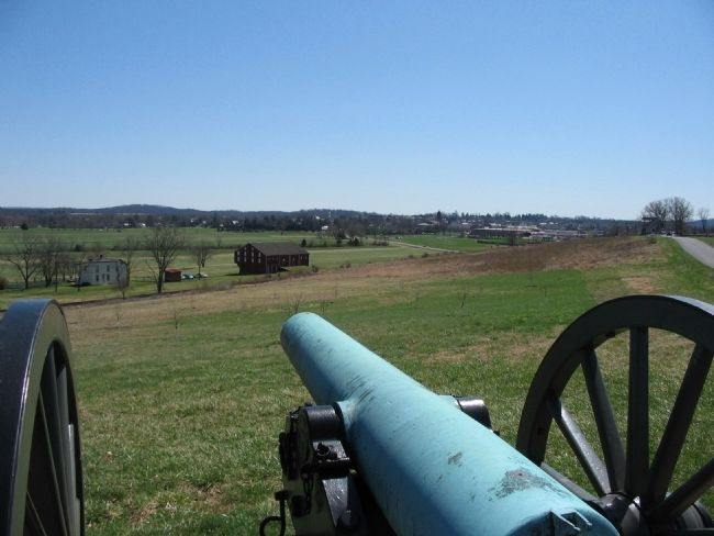 View of Gettysburg and Oak Ridge image. Click for full size.