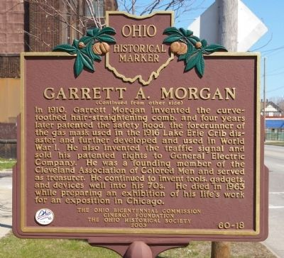 Garrett A. Morgan Marker image. Click for full size.