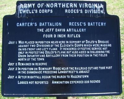 The Jeff Davis Artillery Tablet image. Click for full size.