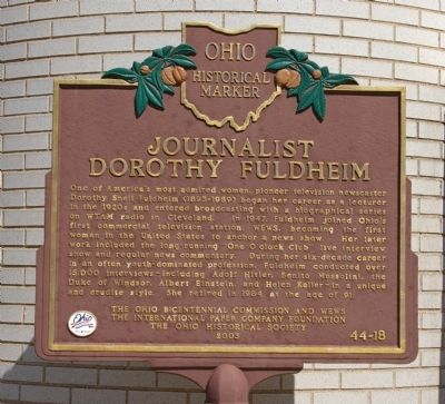 Journalist Dorothy Fuldheim Marker image. Click for full size.