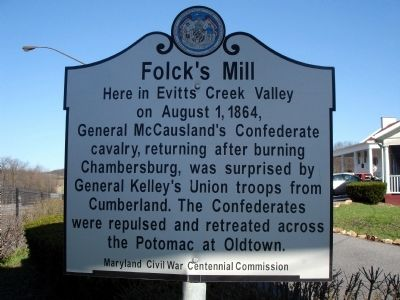 Folck's Mill Marker image. Click for full size.