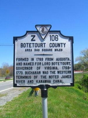 Botetourt County Marker image. Click for full size.