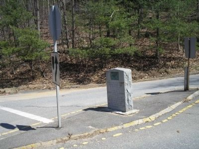 Marker on Boston Post Road image. Click for full size.