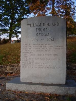 William Holland Thomas Marker image. Click for full size.