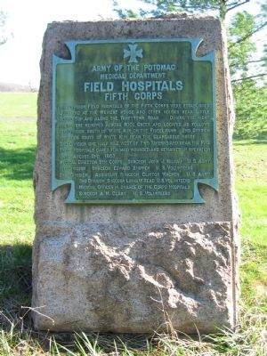 Field Hospitals - Fifth Corps Tablet image. Click for full size.