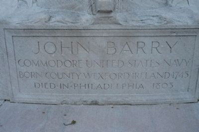 John Barry Memorial (west side panel) image. Click for full size.