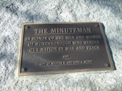 Minuteman Plaque image. Click for full size.