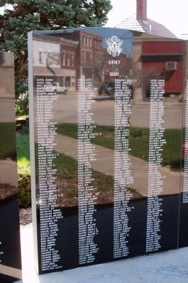 Panel - Two:: Milford Illinois War Memorial Marker image. Click for full size.