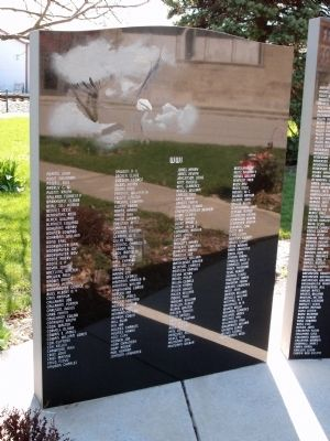 Panel - One:: Milford Illinois War Memorial Marker image. Click for full size.