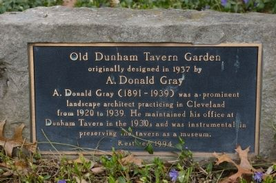 Old Dunham Tavern Garden Marker image. Click for full size.