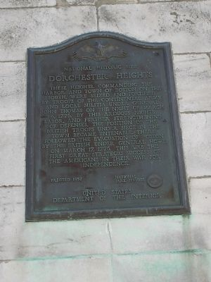 Dorchester Heights Marker image. Click for full size.