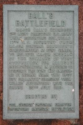 Ball's Battlefield Marker image. Click for full size.