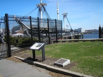 Markers in Charleston Navy Yard image. Click for full size.