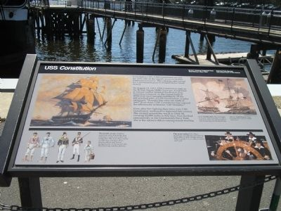 USS Constitution Marker image. Click for full size.