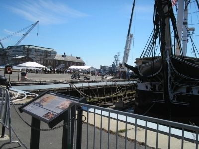 USS Constitution with Marker image. Click for full size.