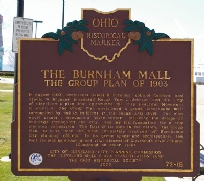 The Burnham Mall Marker image. Click for full size.