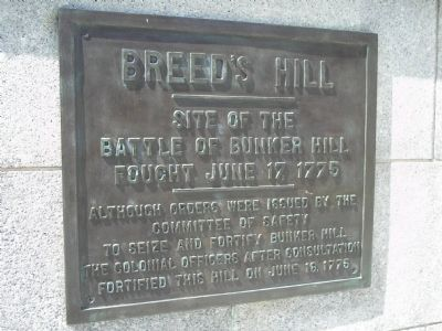Breed's Hill Marker image. Click for full size.