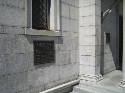Marker at Bunker Hill image. Click for full size.