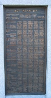 143rd Pennsylvania Infantry Panel image. Click for full size.