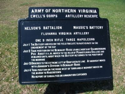 Massie's Battery - Nelson's Battalion Tablet image. Click for full size.