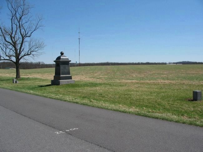 75th Pennsylvania Infantry Monument and Flank Markers image. Click for full size.