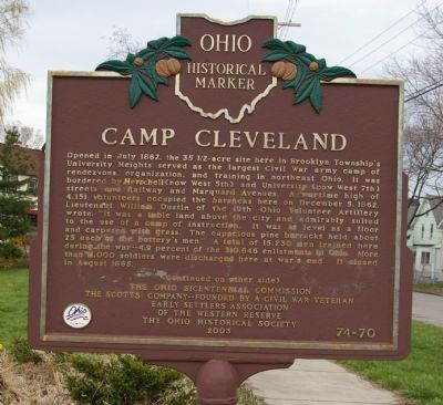 Camp Cleveland Marker image. Click for full size.