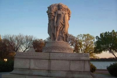 John Ericsson Memorial, north side image. Click for full size.