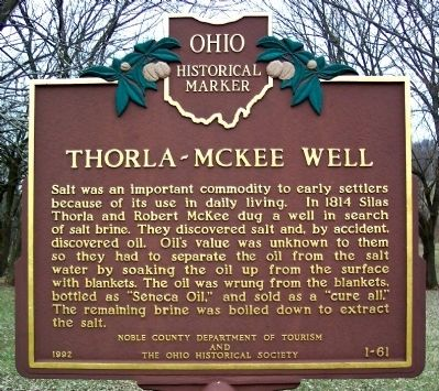 Thorla-McKee Well Marker (Side A) image. Click for full size.
