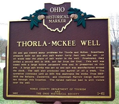 Thorla-McKee Well Marker (Side B) image. Click for full size.
