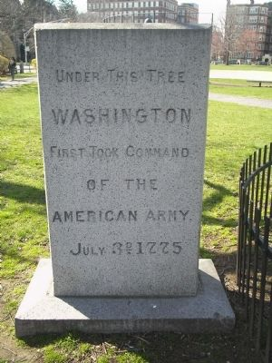 Washington First Took Command Marker image. Click for full size.