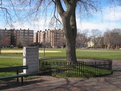 Marker on the Cambridge Common image. Click for full size.