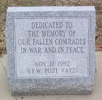 VFW Post #4721 Veterans Memorial image. Click for full size.