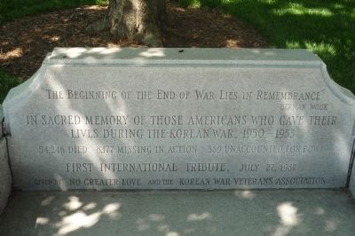 Korean War Contemplative Bench Marker image. Click for full size.