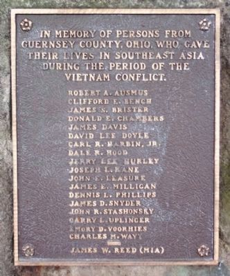 Guernsey County Vietnam Memorial image. Click for full size.