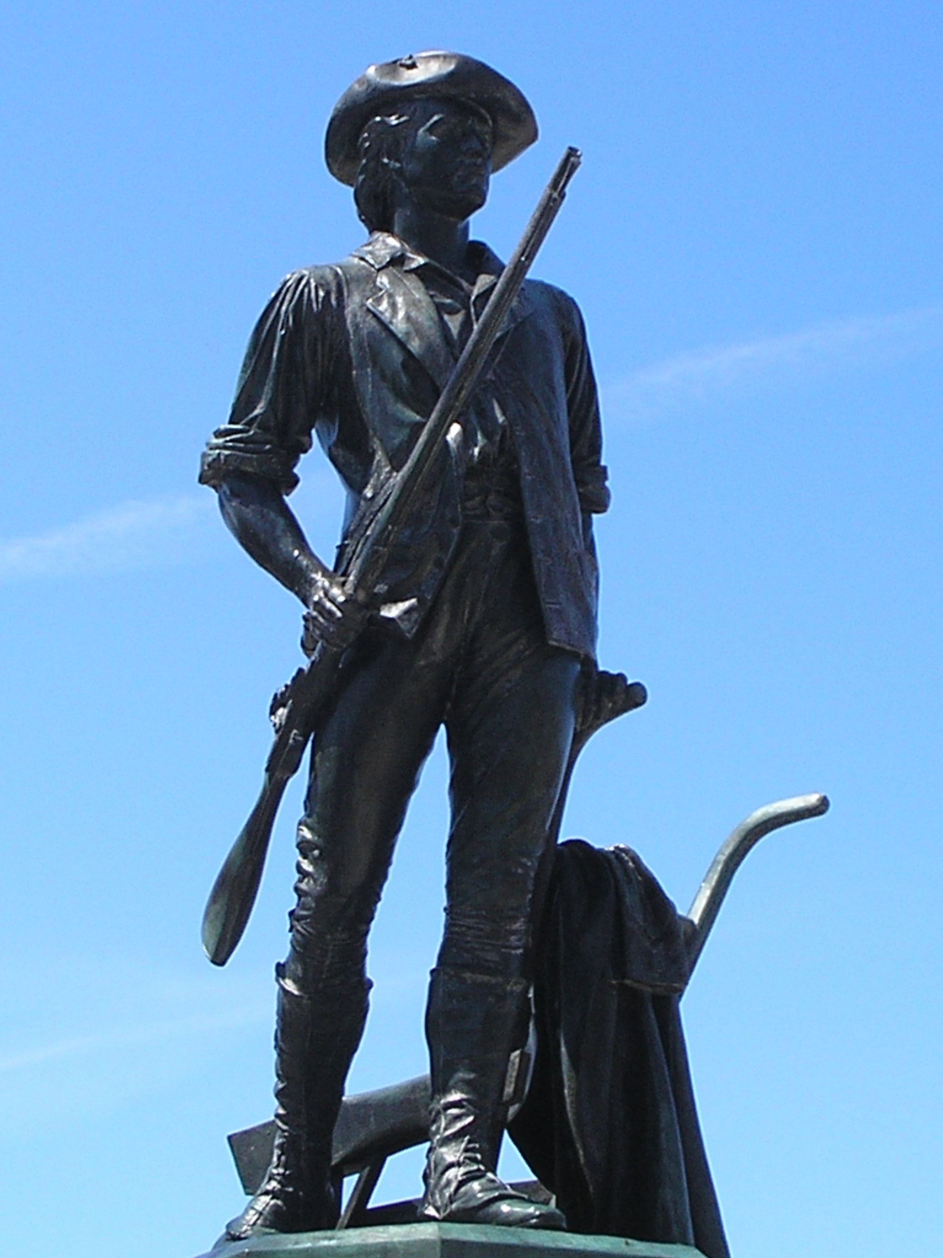 Closeup of the Minuteman Statue