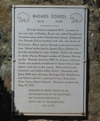 Rhoads School Marker image. Click for full size.
