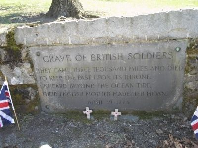 Grave of British Soldiers Marker image. Click for full size.