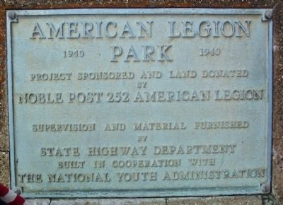 American Legion Park Marker image. Click for full size.