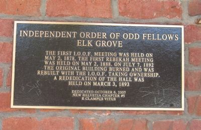 Independent Order of Odd Fellows Marker image. Click for full size.