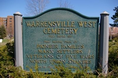 Warrensville West Cemetery Marker image. Click for full size.