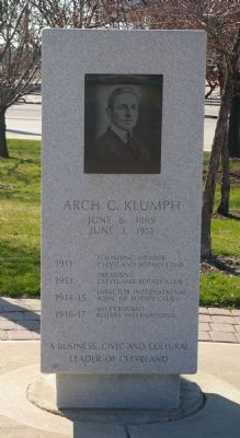 Arch C. Klumph Marker image. Click for full size.