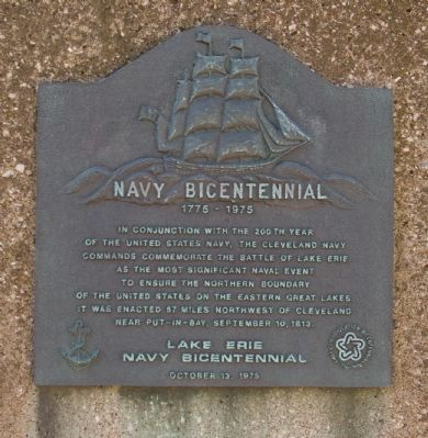 Navy Bicentennial Marker image. Click for full size.